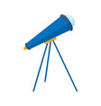 telescope flat icon element of education spyglass vector image