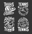 Tennis sport tshirt prints rackets or balls