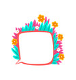 thought bubble decorated with summer plants and vector image vector image