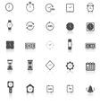 Time icons with reflect on white background vector image vector image