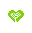 tree love logo icon design vector image