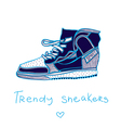 trendy sneakers vector image