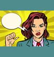 unhappy woman hand gesture vector image vector image
