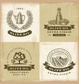 Vintage olive oil labels set vector image vector image