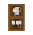 kitchen furniture wooden vector image
