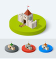 medieval castle icon vector image