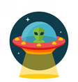 UFO Unidentified flying object vector image