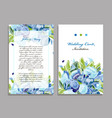 wedding card template floral design vector image