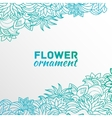 abstract ornament flower background concept vector image vector image