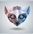 abstract polygonal tirangle animal lemur hipster vector image