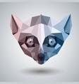 abstract polygonal tirangle animal lemur hipster vector image vector image
