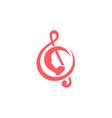 beauty melody logo vector image vector image