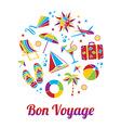 Bon Voyage card vector image