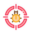 bug target icon outline vector image