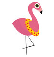 cartoon picture summer flamingo bird in a vector image