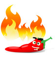 cartoon red hot chili pepper vector image vector image
