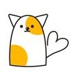 Cat cute vector image