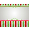 christmas background with snowflakes and decorativ vector image vector image