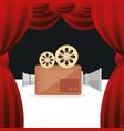 cinema camera film entertainment icon vector image