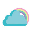 clouds and rainbow design vector image vector image