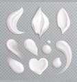 cosmetic cream smears realistic icon set vector image vector image