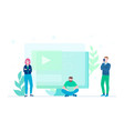 creative team - flat design style colorful vector image vector image