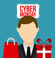 Cyber Monday design vector image vector image