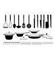 doodle kitchen equipment set vector image vector image