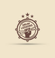 drum school isolated round emblem vector image vector image