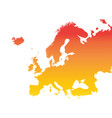europe map colorful orange vector image