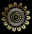 floral vintage greek mandala pattern round vector image vector image