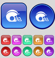 football helmet icon sign A set of twelve vintage vector image