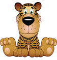 funny tiger vector image vector image
