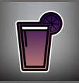 glass of juice icons violet gradient icon vector image vector image