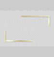 golden frame elements gold angles border vector image