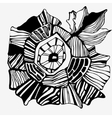 graphic flower hand-drawing vector image vector image