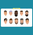 group of people business men avatar vector image vector image