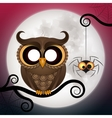 Halloween holiday crazy owl vector image vector image