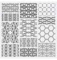 hand drawn floral seamless patterns vector image