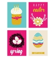 Happy easter greeting cards template vector image