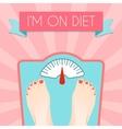 Healthy diet weight poster vector image vector image