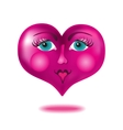 Heart with a face vector image vector image
