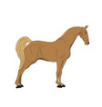 horse standing color vector image vector image