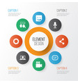 internet icons set collection of publish gif vector image vector image