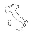 italy map icon vector image vector image