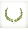 Laurel wreath green vector image