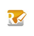 letter r with stabilo vector image