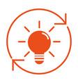 light bulb idea cartoon vector image vector image