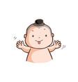 little thai boy make a wry face vector image vector image