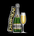 logo for champagne vector image